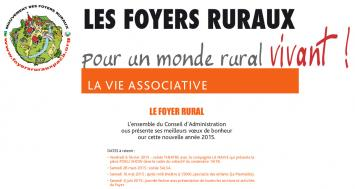 Foyer rural : calendrier et contacts