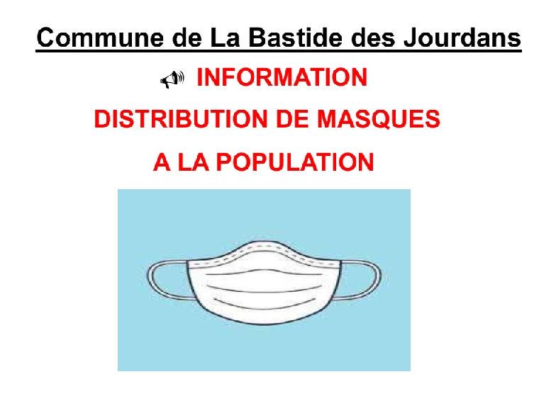 La distribution de masques continue