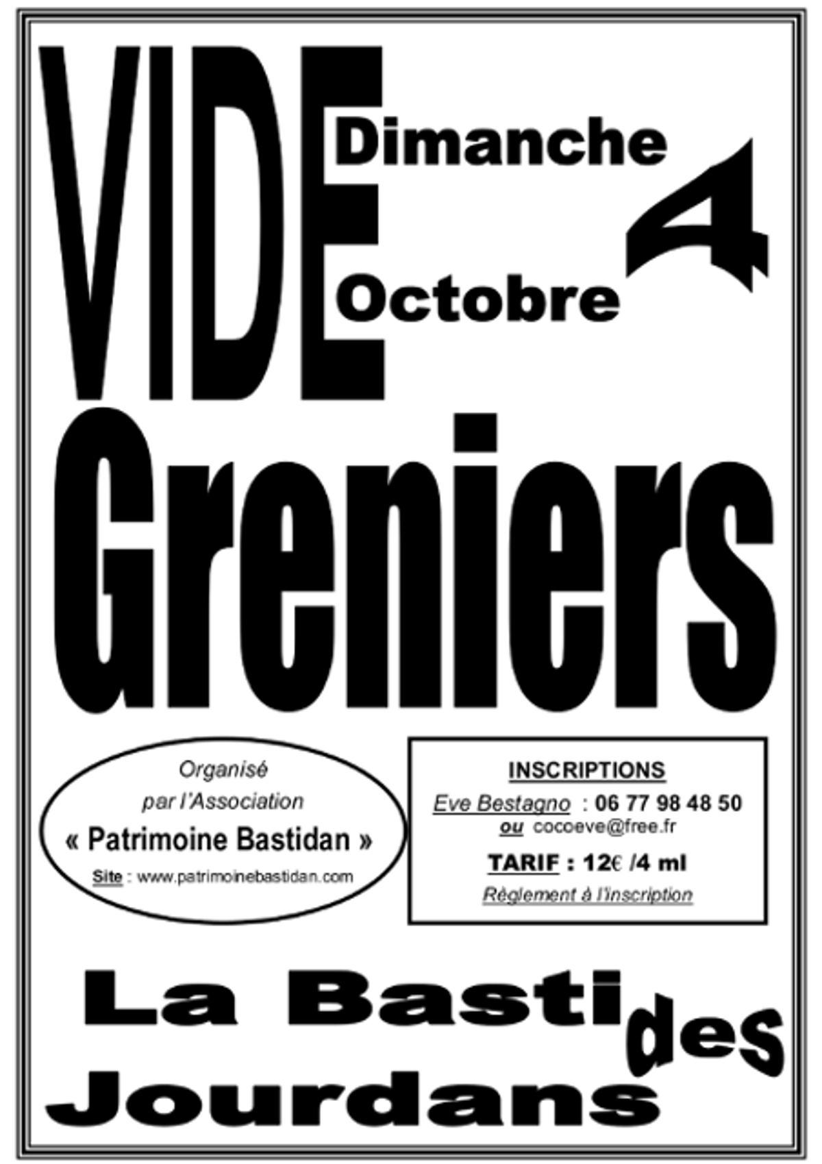 Vide grenier la bastide des jourdans - Vide grenier 77 2015 ...